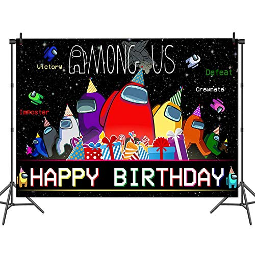 Among Us Children Party Photography Backdrop