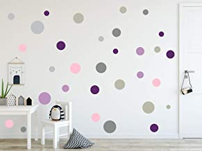 timalo® 120 stuks wandtattoo's kinderkamer cirkels pastel muurstickers – stickers punten   73078-SET8-120