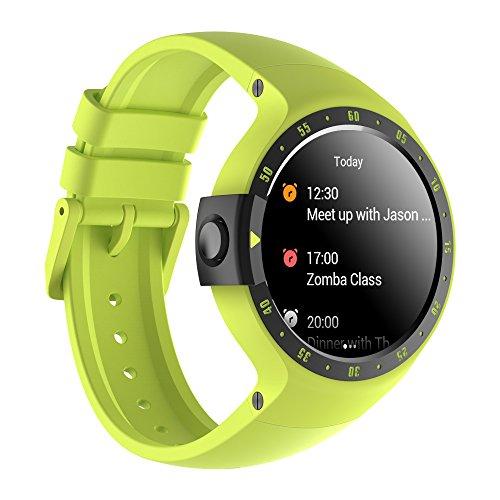 Ticwatch S Sport - Reloj inteligente con GPS, pantalla táctil OLED y resistente al agua, compatible con iOS y Android, sistema Android Wear 2.0, color amarillo