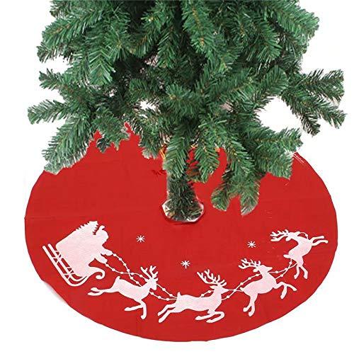 Ungfu Mall 100cm Red Christmas Tree Skirt Santa Claus Tree Skirt Christmas Decoration Supplies Ornament