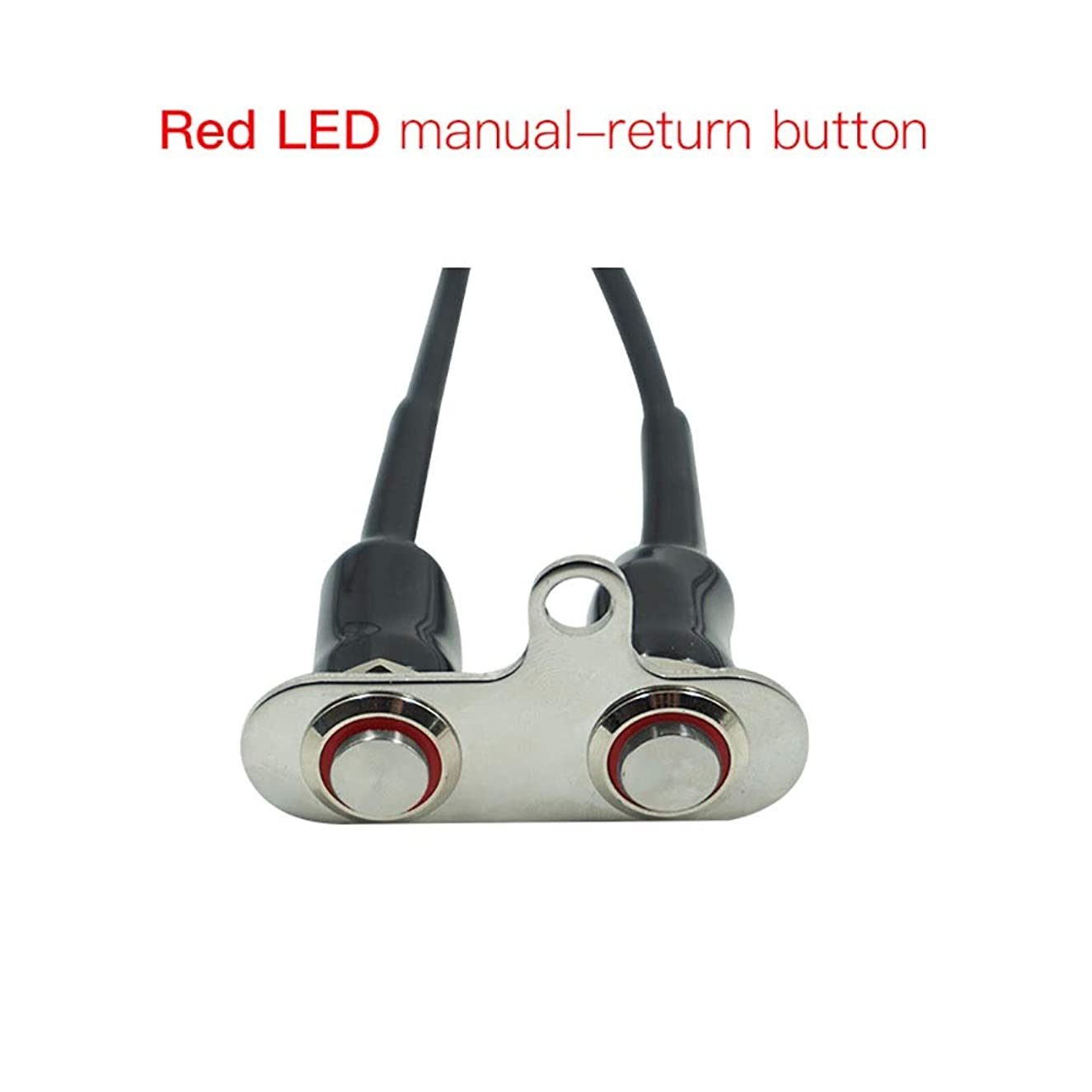 Easy to Install 12V LED Motorcycle Switch Handlebar Adjustable Mount Waterproof Switches ON-Off Push Button Headlight (Red) Durable ( Color : Red )