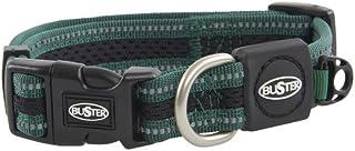 "Kruuse 1"" Buster Reflective Mesh Dog Collar Adjustable (13-20""), Medium, Green"