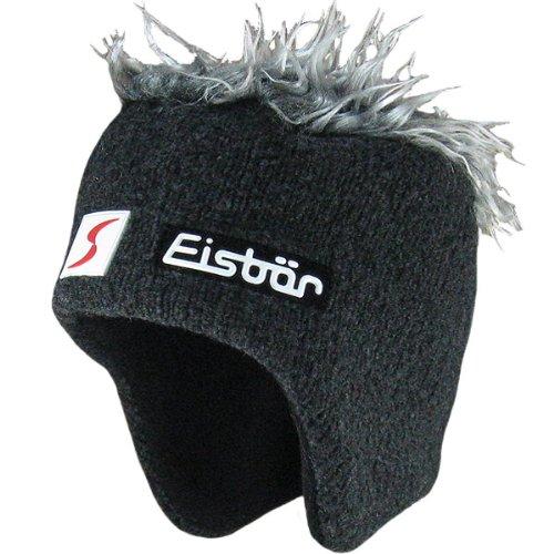 Eisbär Cocker SP–Gorro, unisex, otoño/invierno, Unisex Niños, color antracita/gris, tamaño One Size