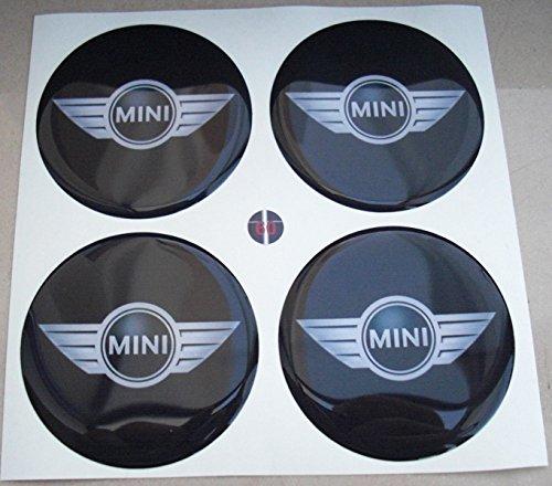 Mini Flügel Cooper, 60 mm, Tuning 3D COOPER, geharzt, Sticker, 4 Stück Aufkleber