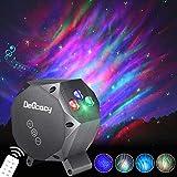 LED Aurora Licht Projektor, Delicacy Sternenlicht Projektor Lamp Rotierende Sterne Nachthimmel Licht, Mehrfarben Aurora-Effekt Nachtlicht mit Bluetooth, für Kinder Erwachsene Zimmer Dekoration