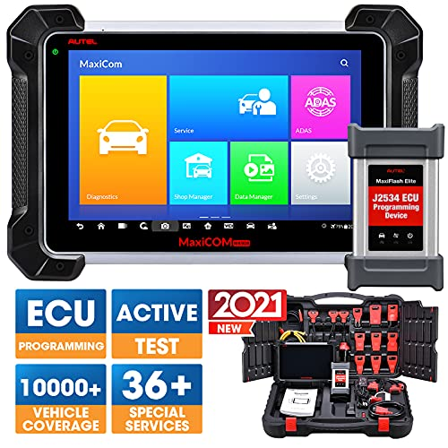 Autel MaxiSys Pro MK908P Automotive Diagnostic Tool (Same Functions as MaxiSys Elite) with WiFi Bluetooth Jbox J2534 VCI ECUs BCM PCM Reprogramming and Coding