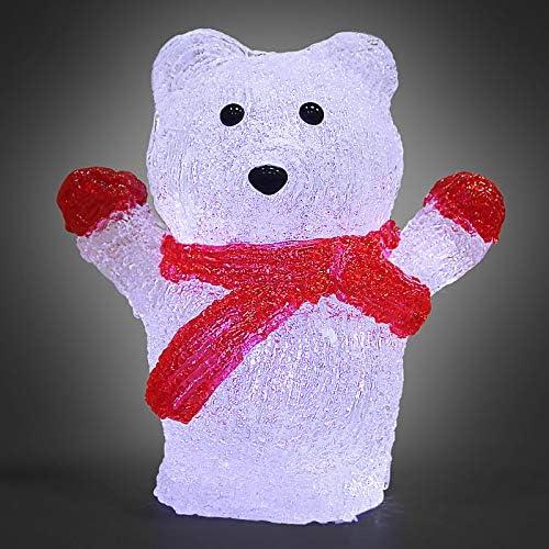 Monzana Figurine Lumineuse LED en Acrylique D/écoration de No/ël P/ère no/ël en Parachute Illumination de no/ël P/ère no/ël Lumineux