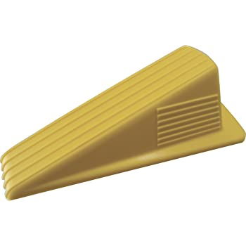 Shepherd Hardware Available 3763 Heavy Duty Jumbo Rubber Door Wedge, Yellow, 3-1/2 Inch