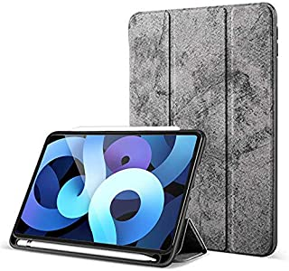 Robustrion Marble Series Smart Trifold Flip Stand Case Cover for iPad Air 4 10.9 inch 2020 - Grey