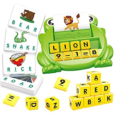 Amazon - 60% Off on Matching Letter Games and Math Interactive Games, Upgraded 2 in 1 Educational Learning Games for Kid