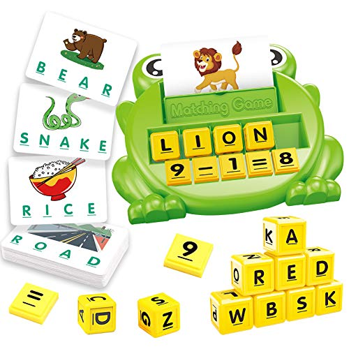 Mimary Matching Letter Games and Math Interactive Games, Upgraded 2 in 1 Educational Learning Games for Kids, Preschool Learning Toys for Kids Ages 4-8 and up, Best Gift for Toddlers Boys & Girls