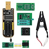 MELIFE SOIC8 SOP8 Test Clip EEPROM Flash BIOS USB +1.8V Adapter + Soic8 Adapter Programmer Module Kit Set for EEPROM 93CXX / 25CXX / 24CXX + CH341A 24 25 Series