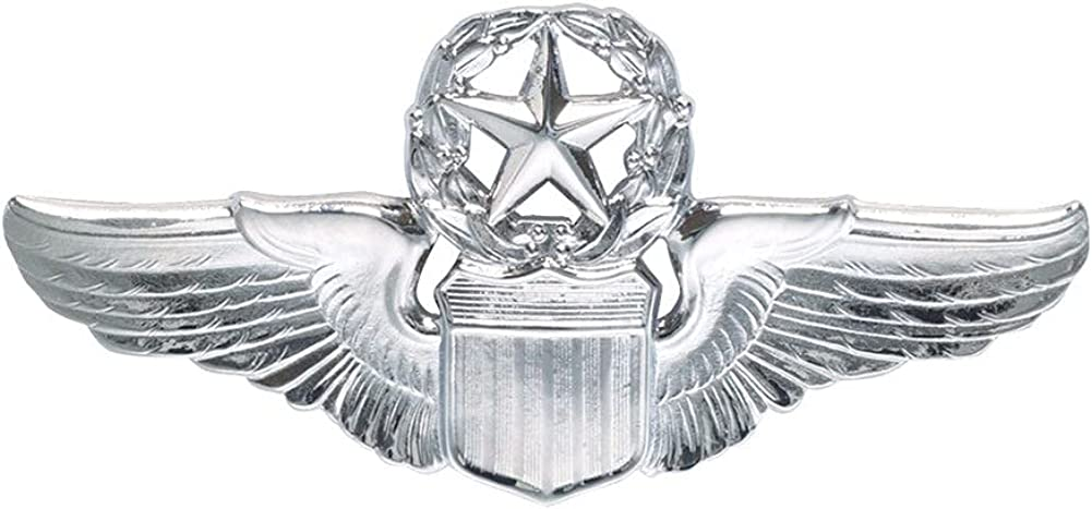 Air Ranking integrated Cheap mail order specialty store 1st place Force Command Pilot Wings Mirror Regulation Finish Size