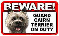 BEWARE!CAIRN TERRIER ラミネートサイン:ケアーンテリア 注意 警戒中 Made in U.S.A [並行輸入品]