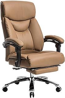 WYKDL مكتب كرسي كبير الحجم مريح، 400LB عودة كرسي مكتب الكمبيوتر التنفيذي مع مسند القدمين القابلة للسحب ومكتب قاعدة معدنية/...