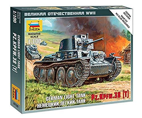 Zvezda–Z6130–Modellbau–Panzerkampfwagen 38T–Maßstab 1: 100
