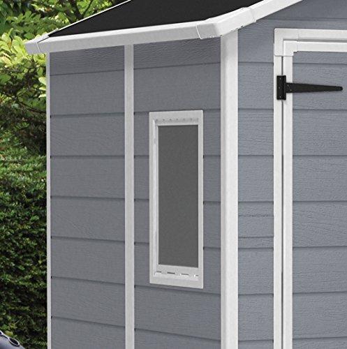 Keter Manor Outdoor Plastic Garden Storage Shed, Grey, 6 x 5 ft Gardening Garden & Outdoors