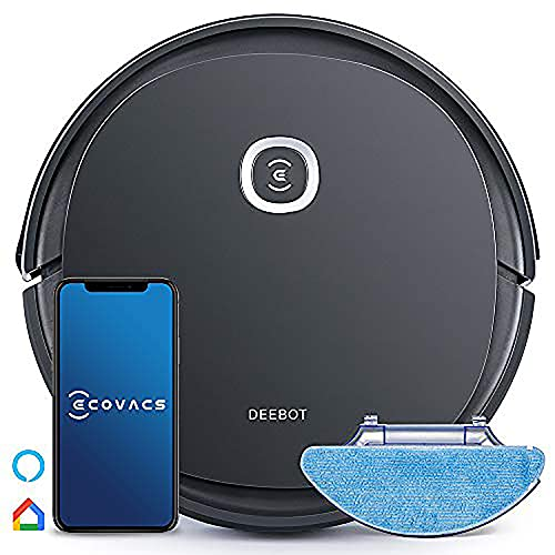 ECOVACS DEEBOT U2 Pro Smart Robot Vacuum Cleaner for home, upgraded 2 in 1 Wet and Dry, Max 800ML dust bin Plus 400ML Water Tank, OZMO Mopping Technology,Up to 1600 Pa,4-Stage Cleaning System,Pet Care Kit,Selective cleaning modes,APP control, Automatic charging ,Obstacle Detection Technology, Compatible with Amazon Echo & Google Home