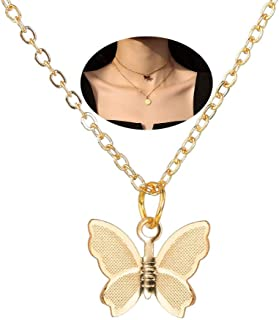 Joyiever Dainty Butterfly Necklace for Women Gold Choker Necklaces Butterfly Choker for Wife Girlfriend Friends Gifts
