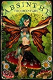 Absinthe The Green Fairy Tin/Metal Style Street Poster for