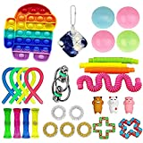 GUbaliYA Cheap Sensory Fidget Toy Packs, Fidget Pack with Simple Dimple and Pop-Its Toy, Sensory Fidget Toy Sets, Stress Relief and Anti-Anxiety Fidget Toy for Kids Adult Push Bubble Toys (D)