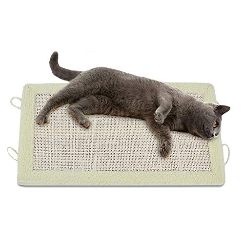 Giocattolo del gatto dell'animale domestico,Tappetino di Sisal,Schede di graffio del gatto,Tappetino pieghevole per gatti