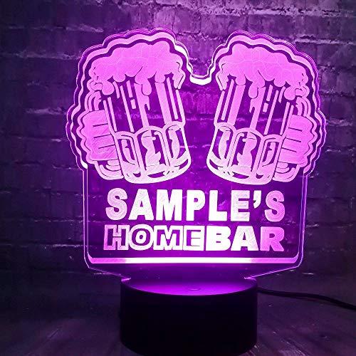 WangZJ Bar Pub Bier Tisch 3d Beleuchtung Kinder Lampe / 7 Farbe Nachtlicht/home Schreibtisch Nachtlicht/Kinder Urlaub Geschenk/Touch