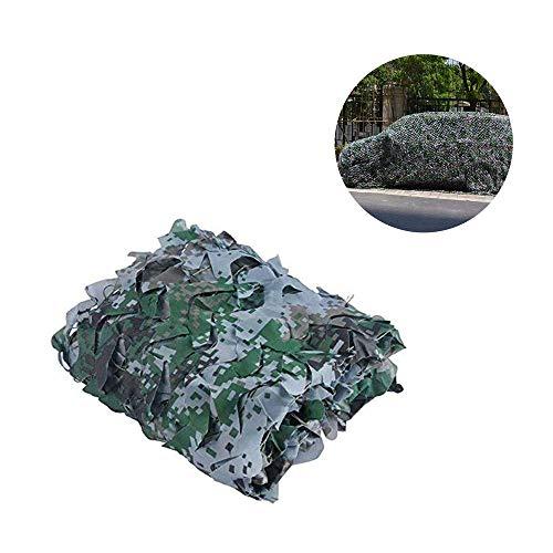 Camouflage Net,Filet de Camo Filet d'ombre Soleil Maille de Protection Auvents Tente Tissu Oxford,Convient pour DéGuisement Chasse Décoration Photographie Jardin en Plein air Big Lgnifuge,Jungle