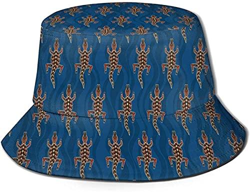 Sombreros de cubo unisex color rosa crema escarchado cubo sombrero de verano pescador sombrero-palmeras Sunset-One Size Flat Top transpirable