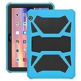 Eastcoo Schutzhülle für Huawei MediaPad T5 10,1-Schicht weiches TPU, robuster & harter PC-Ständer Ständer Stoßfester Beweis Hybrid Heavy Duty Silikonhülle für Kinder (Blau undSchwarz)