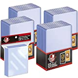100 ct Toploaders Trading Card Sleeves Set, Top Loaders Penny Sleeves Compatible with Standard Card, Trading Card, MTG, Yugioh Card (Include 100 Thick Sleeves & 200 Soft Sleeves)