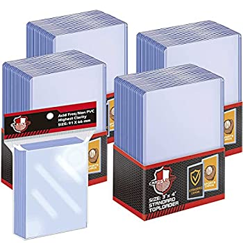 100 ct Toploaders Trading Card Sleeves Set Top Loaders Penny Sleeves Compatible with Standard Card Trading Card MTG Yugioh Card  Include 100 Thick Sleeves & 200 Soft Sleeves