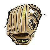 Wilson A2000 11.25-Inch SuperSkin Baseball Glove, Blonde/Black, Left (Right Hand Throw)