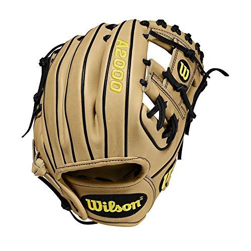 Wilson A2000 11.25-Inch SuperSkin Baseball Glove, Blonde Black, Left (Right Hand Throw)