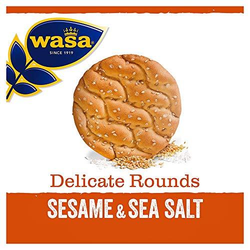 Wasa Knäckebrot aus Weizen mit Sesamkörnern & Meersalz, 8er Pack (8 x 235 g)