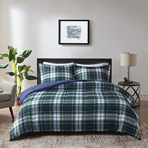 Madison Park Essentials Parkston Down Alternative Comforter Mini Set, Twin/ Twin X-Large, Navy