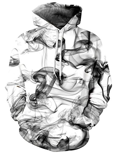 Goodstoworld 3D Print Hoodies Sweatshirts for Men with Pocket Designs Hoodies with Jacket Print Gray Smoke Trendy Hooded Hoody Tops Lovers Women Sweaters Hoodies