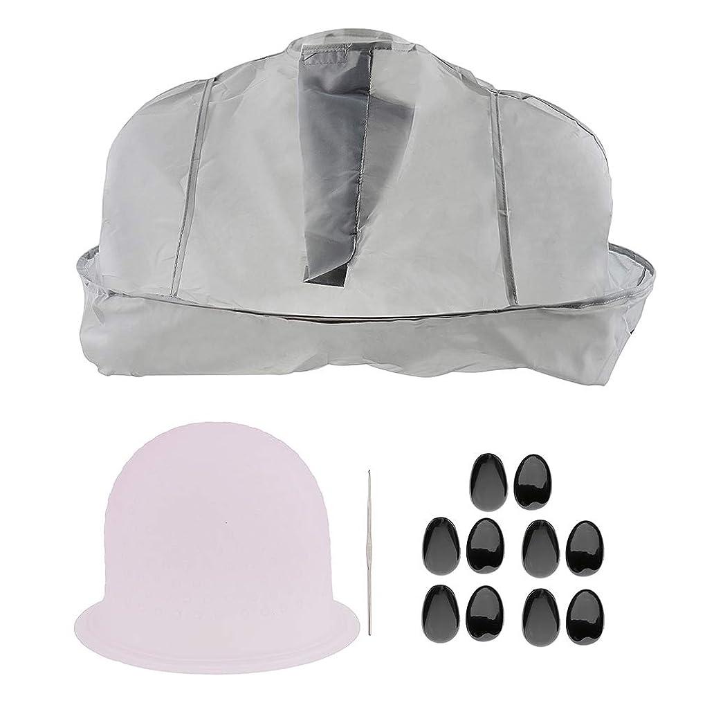 ブロー部屋を掃除するレジサロンの理髪師の髪の色付けのツールセット帽子ティッピングキャップ耳のカバー