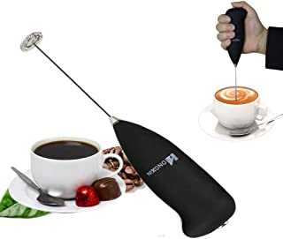 Whisk Milk Frother Handheld Battery Operated Electric Foam Rechargeable Foam Maker with Stainless Maker For Coffee, Latte, Cappuccino, Hot Chocolate, Durable Drink Mixer With Stainless Steel Whisk