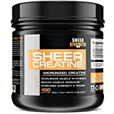 500g Micronized Creatine Monohydrate Powder - Scientifically-Proven Muscle Builder Supplement - 100 Full Servings - Non-GMO - Packaging May Vary. - Sheer Strength Labs