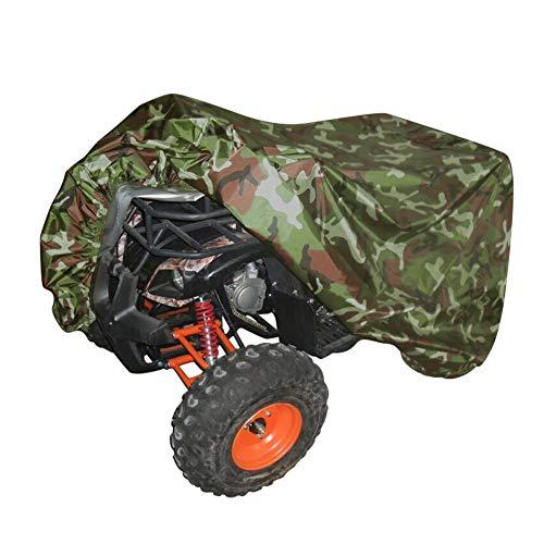 ZZX Telo Copri Moto ATV Quad, 210D Oxford Impermeabile Copertura per ATV Antipolvere Antivento Anti Raggi UV Copriauto per Quad ATV con Borsa di Stoccaggio,Camuffare,M