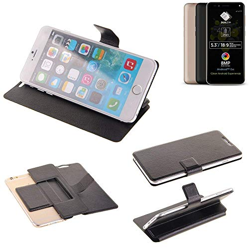 K-S-Trade® Handy Schutz Hülle Für Allview A9 Plus Flip Cover Handy Wallet Case Slim Bookstyle Schwarz