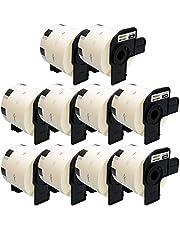 Yellow Yeti 10 Rollos DK-11209 29 x 62mm Etiquetas de dirección compatibles para Brother P-Touch QL-500 QL-570 QL-700 QL-710W QL-720NW QL-800 QL-810W QL-820NWB QL-1100 QL-1110NWB | 800 Etiquetas/Rollo
