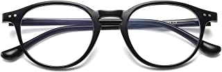 Blue Light Blocking Glasses Vintage Round Frame Eyeglasses for Women Men Black