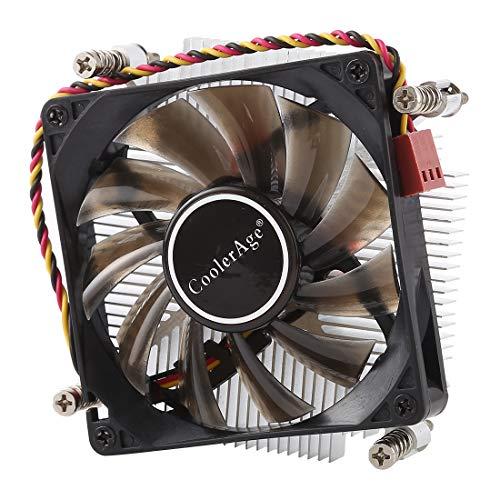 Disipador de calor de cobre con almohadilla hidráulica Ventilador de refrigeración CPU DC 12 V 2000PRM para Intel 1200 1151 1150 1155 1156