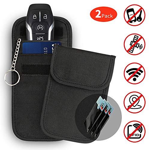 JUCERS 2 x Keyless Go Schutz Autoschlüssel + 3X RFID Blocker Schutzhüllen für Kreditkarten, Verhindern Sie den Diebstahl Ihres Autos, Autoschlüssel Hülle RFID/NFC/WLAN/GSM/LTE Blocker