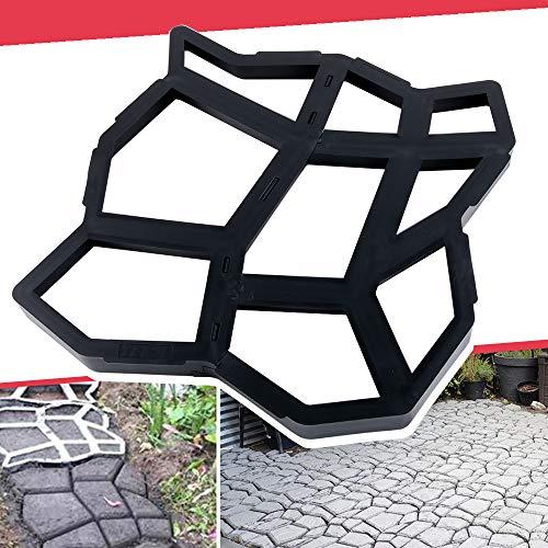 Anothera 17'x17'x1.6' Walk Maker Reusable Concrete Path Maker Molds Pathmate Stone Molding Stepping Stone Paver Yard Patio Lawn Garden DIY Walkway Pavement Paving Moulds (Irregular)