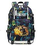 ZZGOO-LL One Piece Monkey·D·Luffy/Vinsmoke Sanji Anime Laptop Backpack Bag Travel Laptop Daypacks Bolso Ligero con USB-B