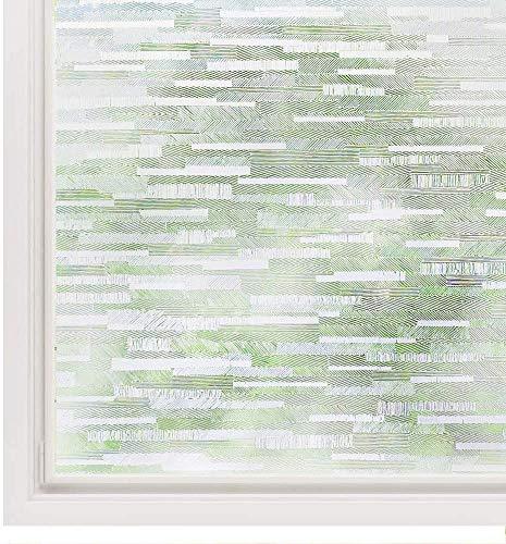 rabbitgoo Fensterfolie Selbsthaftend Blickdicht Milchglasfolie Selbstklebend Sichtschutzfolie Fenster Statisch haftend Dekofolie Anti-UV Window Film 90 x 200cm