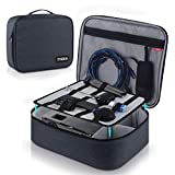 Video Projector Case TYCKA Protective Projector Organizer Bag Shockproof Projector Carrying Case with DIY Dividers 2 Pack Accessories Storage Pockets for Projector Device (14,2 x 11.1 x 4,3 inch)